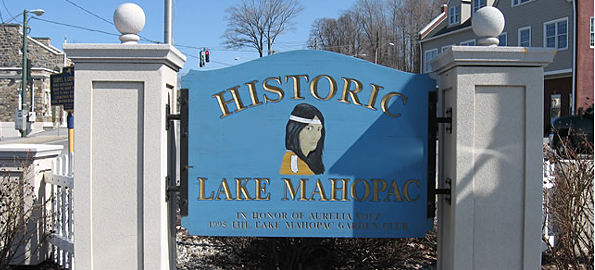 Historic Lake Mahopac Sign