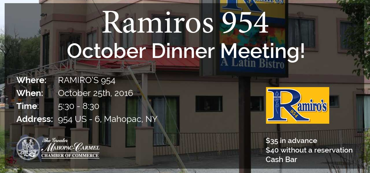 Dinner Meeting at Ramiro's 954 - October