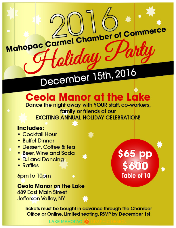 Mahopac Carmel Chamber of Commerce Holiday Party 2016